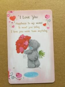 ~ ME TO YOU ~Tatty Teddy ~ Small Gift Card ~ I LOVE YOU ~ NEW ~