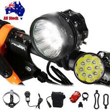 50000Lm 9x XM-L T6 LED Head Bicycle Lamp Bike Light MTB Headlamp Torch Battery