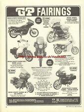 GP Fairings Motorcycle 1981 Magazine Advert #1388