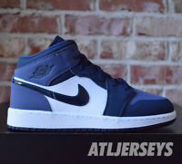 Nike Air Jordan 1 Mid GS Obsidan Sanded Purple 554725-445 Size 3.5 - 7 Y