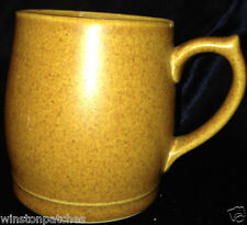 DENBY ENGLAND ENGLISH BROWN MUG LIGHT SPECKLED BROWN RAMS HEAD