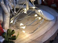 String of 10 LED Silver Wire Fairy Lights 0.9m Battery Christmas Wedding Party