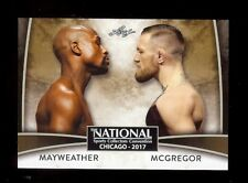FLOYD MAYWEATHER - CONOR McGREGOR 2017 Leaf VIP Promo Boxing / MMA Card