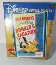 Disney 1000 Piece Puzzle Donald Duck Vintage Puzzle Donalds Vacation