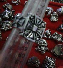 ANELLO croce malta acciaio misura 15 trendy ring skull cavalieri templari