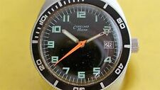 VINTAGE EARLY 1970'S MENS CUPILLARD RIEME 17 JEWELS DIVE DIVER WATCH GOOD USED