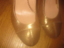 BCBG MAXAZRIA LADIES LEATHER SHOES SZ 7.5B ONLY WORN ONCE MINT COND MADE IN ITAL