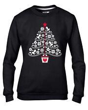 Christmas Tree Stencil Women's Sweatshirt Jumper