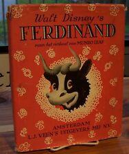 Walt Disney's Ferdinand by Munro Leaf & Robert Lawson in Dutch, 1938 1st rare