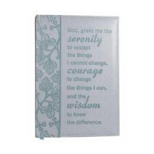 NWT Blue Grey Immitation Leather Serenity Courage Wisdom Journal