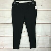 Style & Co Petite Twill Pull-On Mid Rise Womens Size PXL Black Legging Pants NWT
