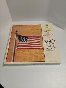 550 Piece Puzzle Spirit of America We The People -New & Sealed From 1991