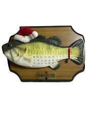 Vintage 1999 Big Mouth Billy Bass Gemmy Christmas Singing Fish Santa Works Rare!