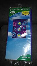 "Decorative Mini Flag ""Spinning Icons"" 13"" x 18"" Nip"