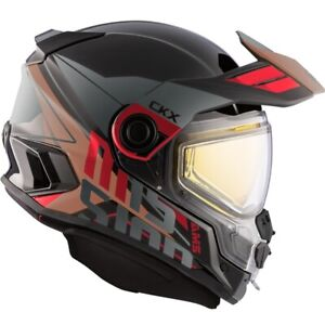 CKX AMS Mission Ramble Red / Brown Helmet w/ Electric Shield (EDL) OFFERS ACCEPT