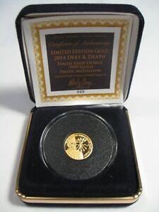 RARE #049/1000 GOLD Coin Debt & Death SBSS Silver Bullet/Silver Shield. 1/10 TO