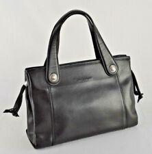 Vintage Longchamp Black Leather handbag arm carry style small Purse