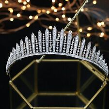 Queen Mary Fringe Royal Tiara Wedding / Prom AAA Cubic Zirconia Rhodium Plated