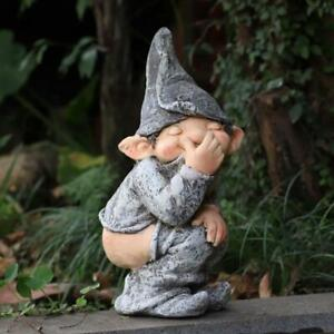 Funny Outdoor Yard Garden Funny Resin Naughty Gnome Statue Decoration Decoration