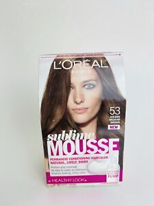 L'Oreal Healthy Look Sublime Mousse Hair Color, 53 Golden Medium Brown