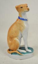 Staffordshire Ceramic Greyhound Whippet Dog Figurine Brown Antique