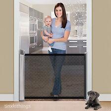 Retractable Safety Baby Pet Gate Indoor Dog Barrier Door Way Home Room Divider