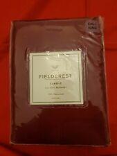 New Fieldcrest Red Cal- King Bedskirt 100% Pima Cotton