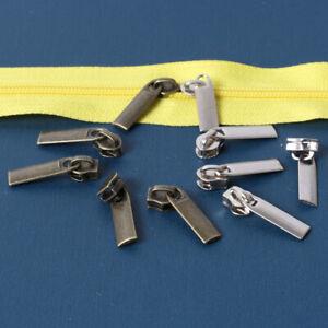 25pcs 3# Metal Non Lock Zippers Puller Sliders For Sewing DIY Zipper Head Kits