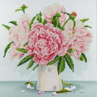 LEISURE ARTS Diamond Dotz Art Embroidery Painting Kit ENGLISH ROSES