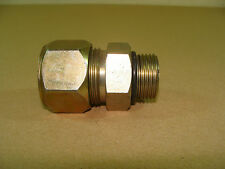 """NEW Parker 16-12-F5BU-S 1"""" SAE - ORB Straight Connector Compression Tube Fitting"""