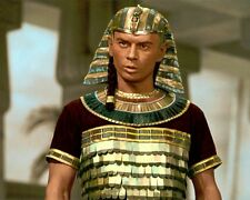"""YUL BRYNNER THE TEN COMMANDMENTS 1956 ACTOR 8x10"""" HAND COLOR TINTED PHOTOGRAPH"""