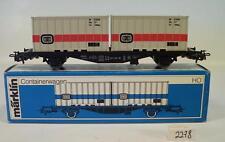 Märklin h0 4664 Carro container della DB in BLU BOX 80er anni #2278
