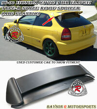 TR-Style Rear Roof Spoiler Wing (ABS Plastic) Fits 96-00 Honda Civic 3dr