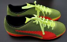 93c669289 Puma Mens Spirit Turf Trainer Fizzy Yellow Red Black Soccer Shoes Size 10.5  M
