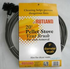 RUTLAND Pellet Vent/Dryer Vent Brush with Handle NEW! FREE USA SHIPPING! #17419
