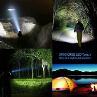 CREE LED Torch Super Bright Adjustable Flash Light Beam Focus DURACELL Batteries