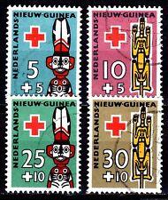 Dutch New Guinea - 1958 Red Cross - Mi. 49-52  VFU