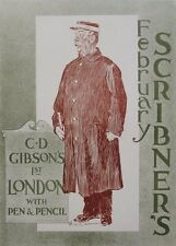 SCRIBNER'S MAGAZINE for November,1897 original poster by C.D. Gibson - London