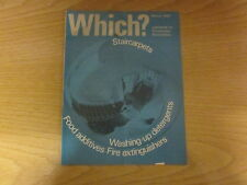 March 1967, WHICH? MAGAZINE, Stair Carpets, Food Additives, Fire Extinguishers.