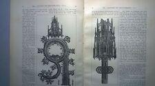 1893 3 gestochene Vorlagen Gotik Kreuzaltar Stendal Dom Glasgemälde Köln Dom