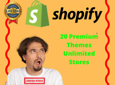 🚀 Shopify Theme Booster + 20 Shopify Premium Themes | Unlimited Stores