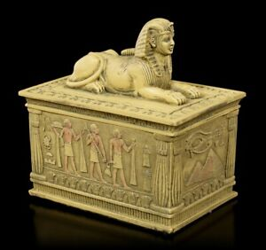 Sphinx Casket - Sand Colored - Egypt Jewellery Box Decor