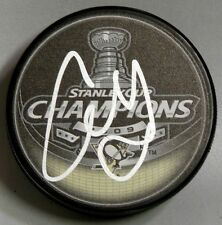 ALEX GOLIGOSKI Signed PITTSBURGH PENGUINS 2009 STANLEY CUP CHAMPIONS PUCK 10075