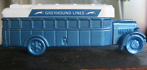 Vintage 1970s Avon Blue '31 Greyhound Bus 5 oz. Everest After Shave Full Glass