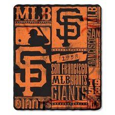 "NEW MLB San Francisco Giants ""Strength"" Fleece Throw Blanket 50""x 60"""