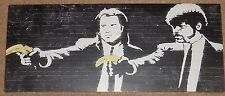 "Banksy Pulp Fiction  24"" x 10"" Canvas print on a wooden stretcher frame"