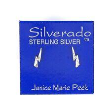 CLOSEOUT LIGHTNING BOLT Ear Studs 925 Sterling Silver Earrings E05