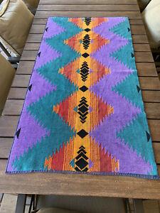 VINTAGE RALPH LAUREN Geometric Southwest Pattern Vintage Reversible Bath Towel