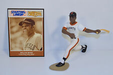 1989 Willie Mays #24 White Jersey San Francisco Giants Starting Lineup Baseball