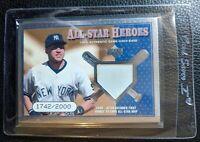 2000 UPPER DECK ALL STAR HEROES DEREK JETER GAME USED BASE CARD HOF #1742/2000